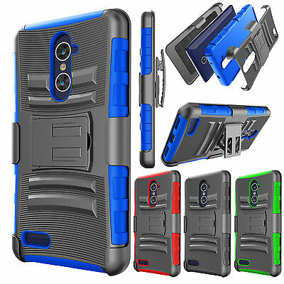 For ZTE Grand X Max 2 / ZTE Zmax Pro Armor Belt Clip Holster Phone Case Cover