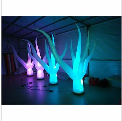custom made decorative Inflatable advertisement pop up trade show LED light tree