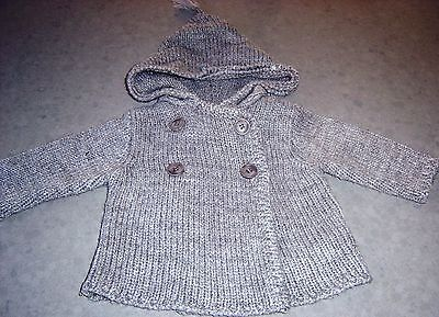 Ouch Baby Girls Wool Blend Hooded Cardigan Sz  000