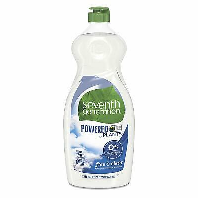 Seventh Generation Natural Dish Liquid Soap Free & Clear 25oz Bottle (6 Count)