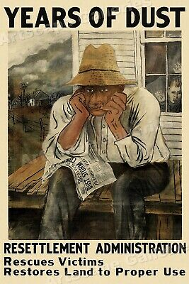 1935 Years of Dust - Dust Bowl Government New Deal Era Poster - 16x24