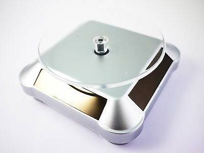 New Solar Showcase Turntable Rotating Toys Display Stand