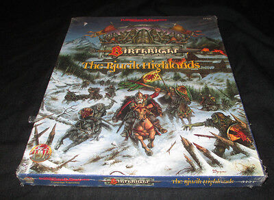 Advanced Dungeons & Dragons Birthright The Rjurik Highlands Sealed Box Set Tsr