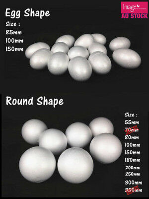 Lot Bulk Polystyrene Styrofoam Foam Ball Round Egg Shape DIY Craft Pomander YW