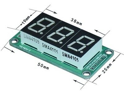 1pc 74HC595 static drive 3 segment digital display module 0.5 inches 3-way red