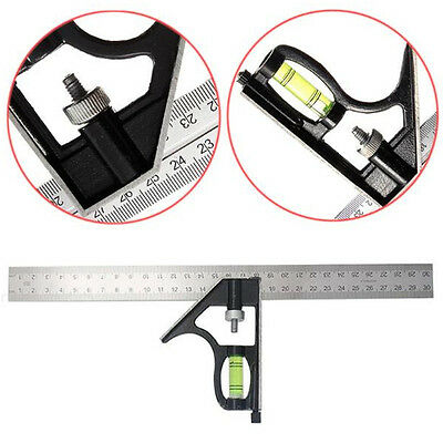 1Pcs Square Woodworking Stainless Steel Adjustable Portable Ruler Level Tools