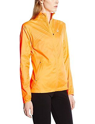 ASICS WOVEN PEACH WOMENS ladies running Jacket- wind & water resistant size L