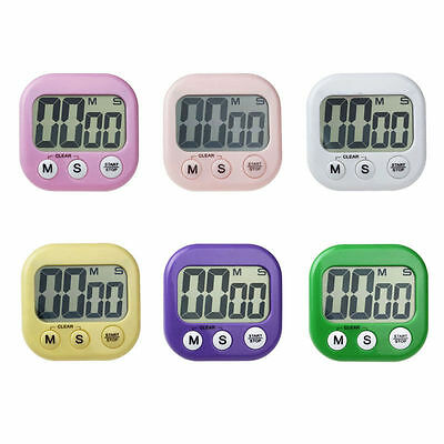 Magnetic Digital LCD Kitchen Timer Count UP DOWN Egg Cooking Chef Fridge Beep G6