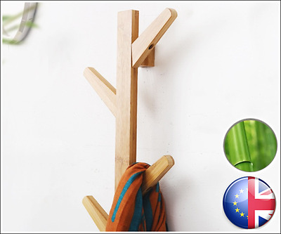 Tree Wall Coat Hanger BEONI Luxury Design Natural Bamboo Elegant and Ecological