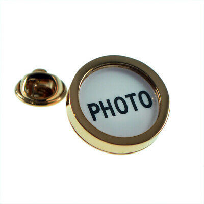 Rose Gold Photo Frame Lapel Pin Badge X2AJTP655