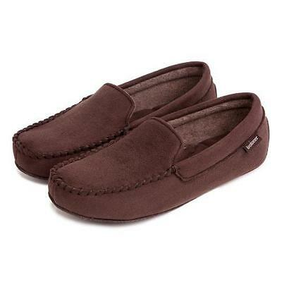 isotoner Mens Pillowstep Driving Moccasin Slippers Brown Various sizes 99045 New