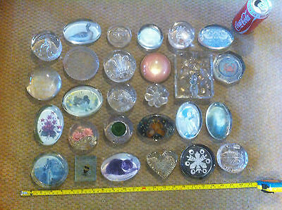 Huge Paperweight Bundle x 27 Paper Weight Ornament Glass Job Lot