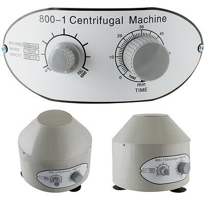 USA Electric Centrifuge Machine 4000rpm Lab Medical Practice With 6x 20ml Rotor