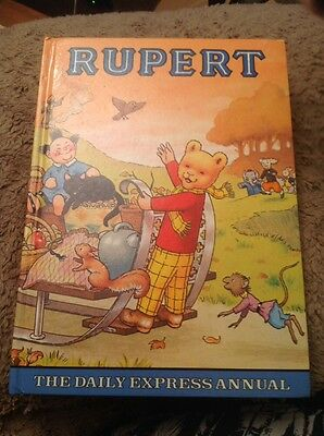 Vintage Rare Rupert Bear Annual Printed By Daily Express 1978 Unclipped