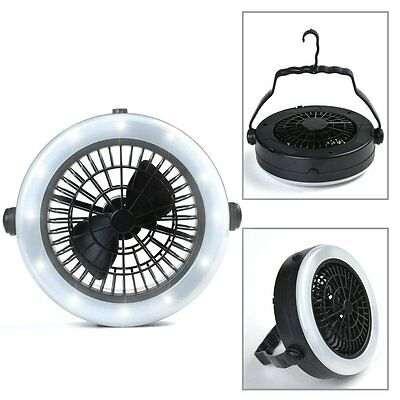 [new Version]2in1 Fan and Camping Lantern - ODOLAND ultralight 12 LED Garden for