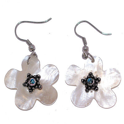 Bulk Lot X 12 White Flower Earrings