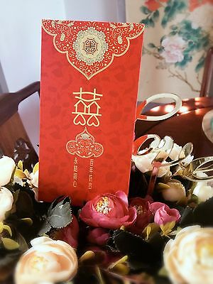 5 x Double happiness Chinese Wedding Wishing Well Red Pocket /Envelope /Packet