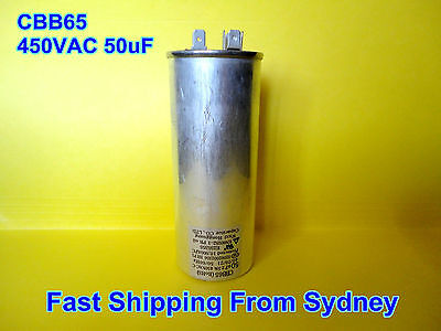 CBB65 450VAC 50uF Air Conditioner Appliance Motor Run Capacitor **NEW**
