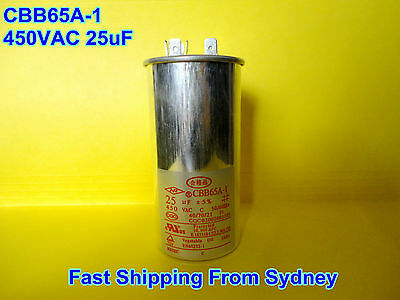CBB65A-1 450VAC 25uF Air Conditioner Appliance Motor Run Capacitor **NEW**