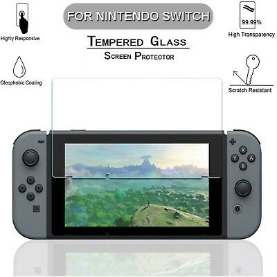 2 x Clear Genuine Tempered Glass Screen Protector For Nintendo Switch