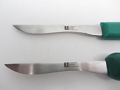 2 Deep Sea Scallop Knife New Bedford R. Murphy Poly Hanlde Seafood Tools