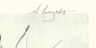 Andrew Wyeth Signed Book Page, JSA LOA, Very Rare Autograph 20th C. Artist