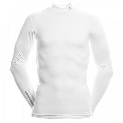 Adidas Men's Golf Thermal Compression Base Layer White Long Sleeve Top XL/XXL