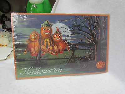 Merck Family Old World Christmas Extra Large Repro Print of Halloween Postcard