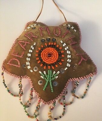 Beaded Pincushions Iroquois Indians Star Flower Dear Mother Victorian Age