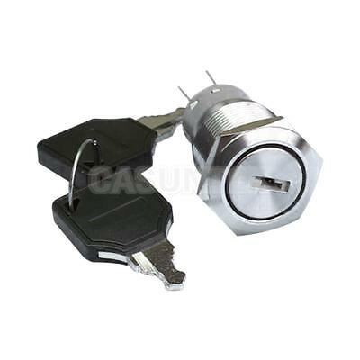 19mm Two Tranches key Rotary Control SPDT Latching Pushbutton Switch