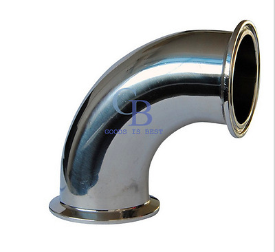 """1"""" Stainless Steel 304 Tri Clamp OD 50.5mm 90° Elbow Pipe Fitting"""