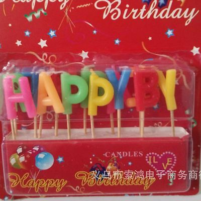 Shipping Kids Happy Birthday Decoration Candle Cake