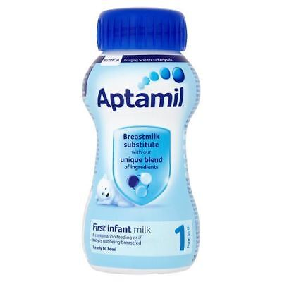 Aptamil First Milk 1 From Birth Ready to Feed 200ml 1 2 3 6 12 Packs
