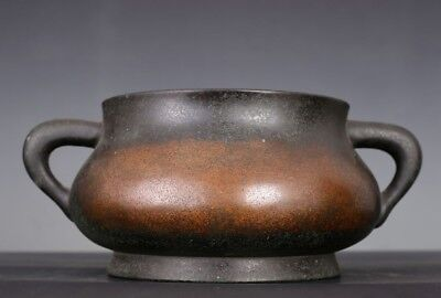 Awesome Rare Old Chinese Antique Incence Burner Bronze Xuande Censer Marks AA050