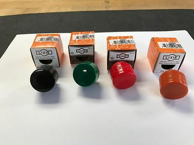 "Lixie Set Of 4,  1"" Replacement Hammer Faces, Black, Green, Red, Orange, New"
