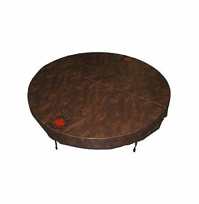 Round Spa Cover Marine Grade Vinyl Made UV Protected Mildew Resistant Brown New