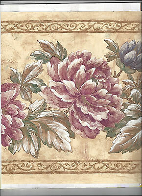 Wallpaper Border Flowers Floral New Arrival 10 1/2 Inches Wide