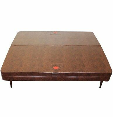 Square Spa Cover Marine Grade Vinyl Made UV Protected Mildew Resistant Brown New
