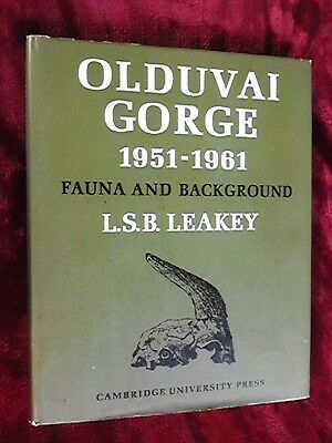 LOUIS & MARY LEAKEY SIGNED - OLDUVAI GORGE - Famed Anthropologists, L S B Leakey