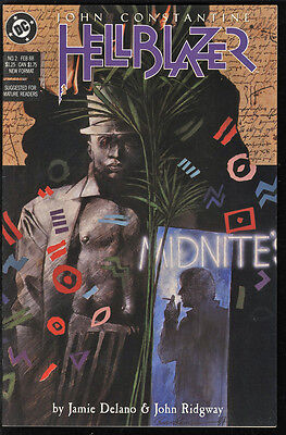 Hellblazer #2 Very Fine to Near Mint 9.4 White Pages