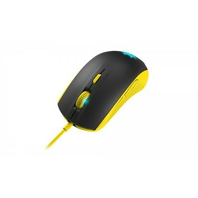 raton SteelSeries 62340 Optical Gaming Mouse, Rival 100, yellow