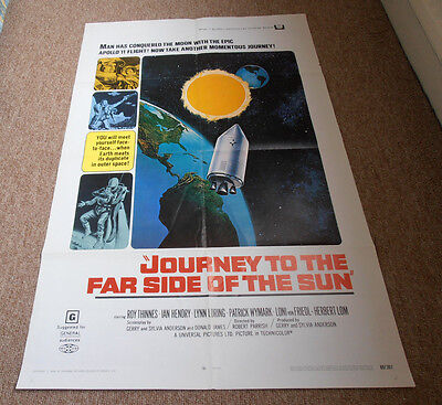 Rare Original 1969 Journey To The Far Side Of The Sun US One Sheet
