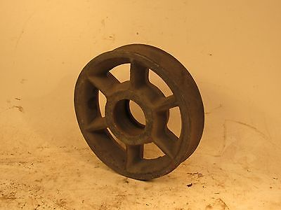 """6 1/4"""" Diameter Rope Pulley - 1 1/4"""" Wide Groove For Rope Block & Tackle"""