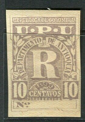 COLOMBIA:  1899 early Registro issue imperf 10c. value