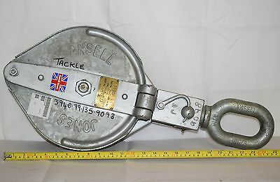 Ansell Jones Universal Cargo Pulley Lead Block 2 ton - Winch Crane Recovery