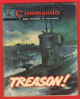 Commando War Stories in Pictures No 15?? Treason.  1981.  Free P&P to UK