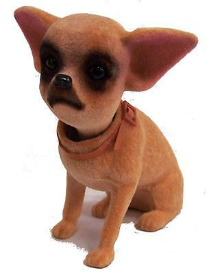 STAND UP NOVELTY BOBBING HEAD CHIHUAHUA mexican DOG bobble  dogs car dash board