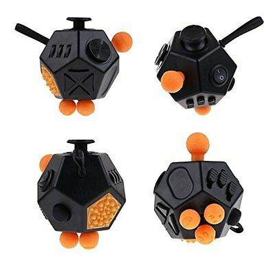 Cool Fidget Cube Dodecagon Relieve Anxiety Stress Adults Solve Puzzle Toys Gift