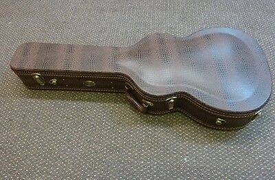 Coffee Lizardskin finish classical guitar case , maroon interior deluxe quality