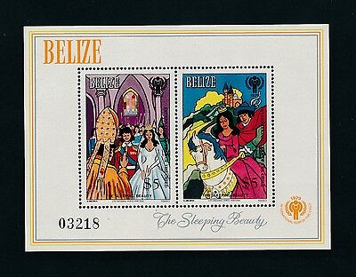 "Belize #521 ""INTL YEAR OF THE CHILD - SLEEPING BEAUTY S/S""; MNH ** PRISTINE**"